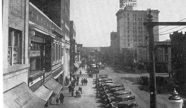 Downtown Hazleton in the 1920s.